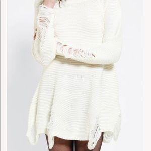 NWT UNIF Come Down Sweater Dress